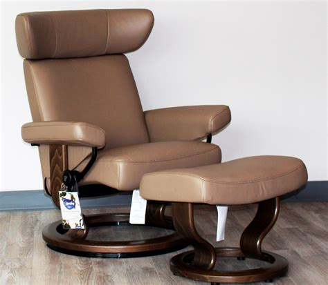 stressless leather chair and ottoman stressless viva paloma funghi leather recliner chair and