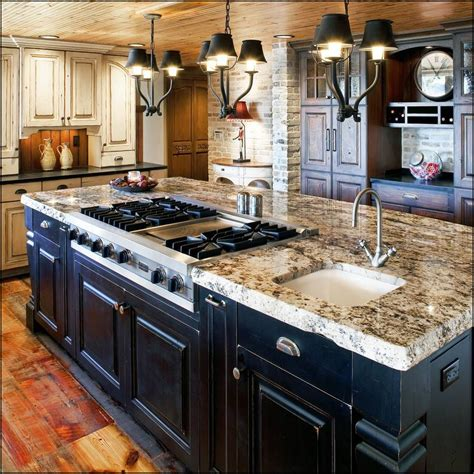 black rustic kitchen island kitchen ideas and design