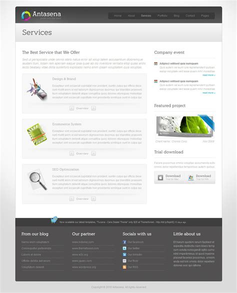 antasena corporate business wordpress theme 4 by indonez