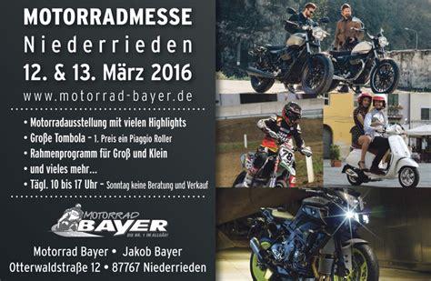 Motorrad Bayer In Niederrieden by Messeangebote Reifen Und Fahrzeuge Motorrad Bayer