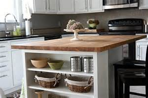 kitchen island with butcher block top house tweaking