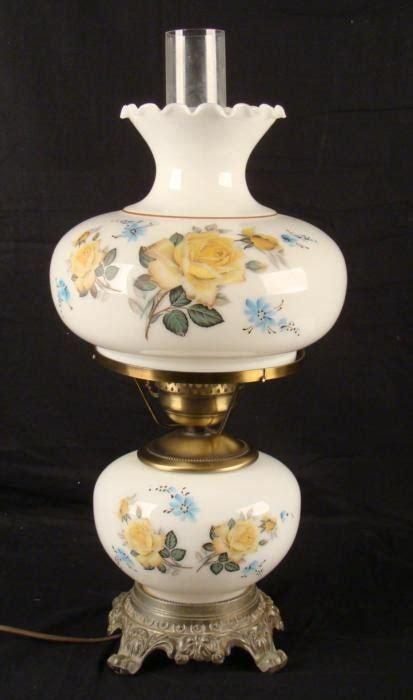 Antique Hurricane Ls Value by Large Vintage White Glass Floral Hurricane L Lot 165979