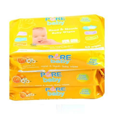 Promo Baby Tisue Basah Mulut Tangan Aloe Vera Isi 60 Mo jual baby wipes orange tissue basah 60w buy 2 get 1 free harga