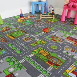 Argos Childrens Floor Mats Large Colourful Town Rug City Car Roads