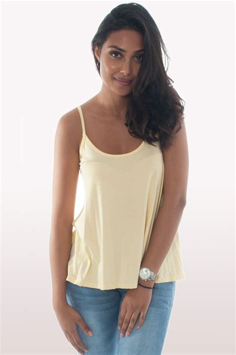 cami swing top dusty yellow cami top clothing tops modamore
