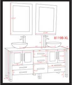 Vanities Sizes Cambridge 71 Inch White Glass Sink Bathroom Vanity Set