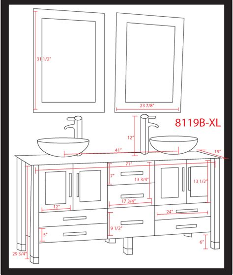 vanity dimensions for bathrooms impressive bathroom vanity dimensions 7 double sink