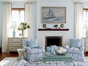 Nautical Themed Homes - light blue living room myhomeideas com
