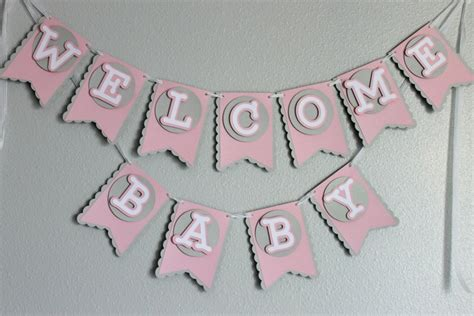 Baby Welcome Home Decoration Baby Shower Welcome Baby Banner Banners Pinterest Baby Showers Welcome Baby And Babies