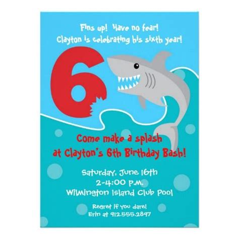 6 year birthday card template 28 best images about 6th birthday invitations on