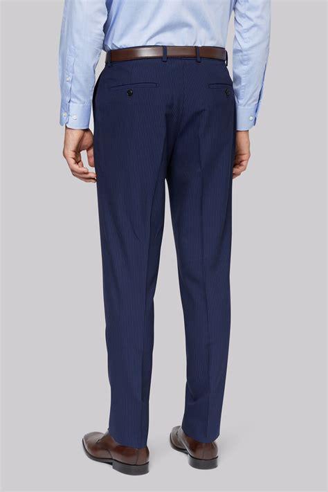 Jaket Stripe moss esq regular fit blue stripe jacket