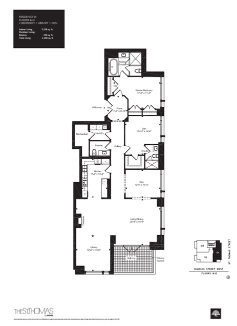 st thomas suites floor plan onestthomas floorplan 08 one st thomas at 1 st thomas st
