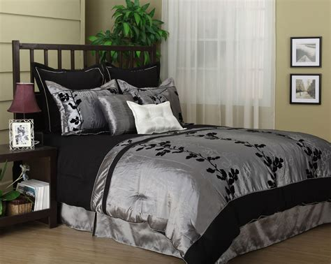 bed in a bag king wendy silver black 7 comforter set bed in a bag king new silver bedding king
