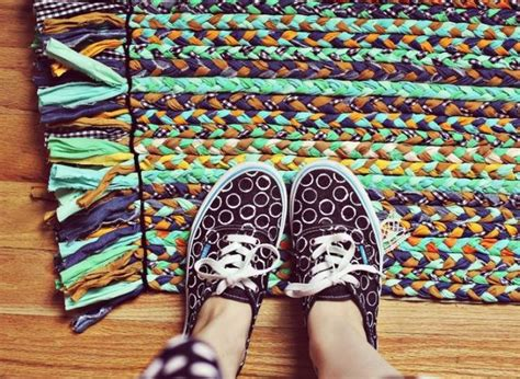 how to out a rug make a bright and colorful braided rug with fabric scraps huffpost