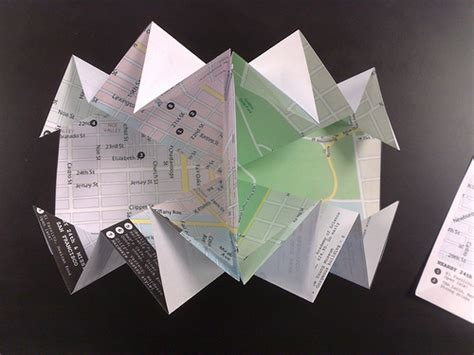 Origami Map Fold - a turkish map fold an album on flickr