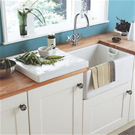 Belfast Sink With Integrated Drainer by Astracast Belfast Ceramic Drainer Sinks Screwfix
