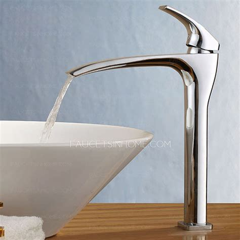 high end lengthen spout waterfall bathroom sink faucet