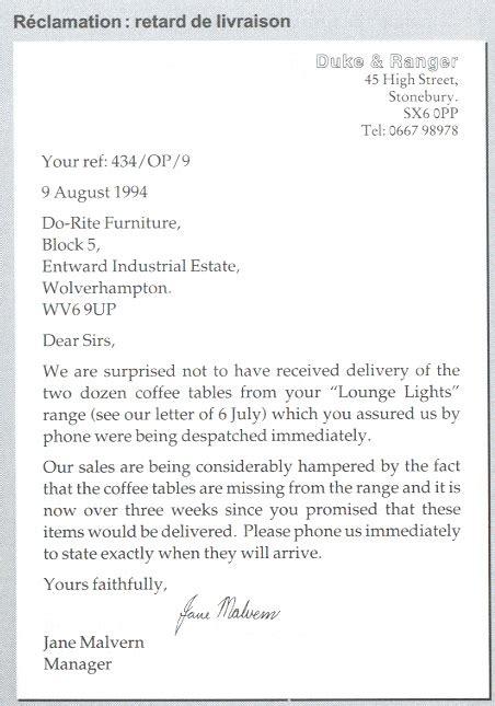 Presentation Normalisee De La Lettre Commerciale exemple de lettre commerciale en fran 231 ais pr 233 sentation lettre type alienbar