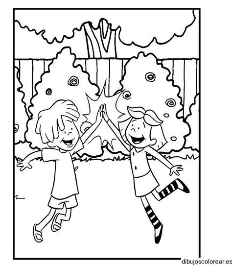imagenes de niños jugando stop para colorear ni 241 o y ni 241 a jugando para colorear imagui