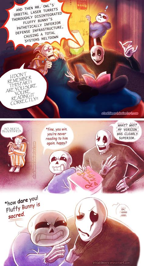 sans gaster papyrus fluffy bunny undertale