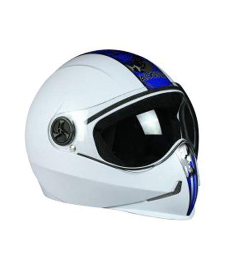Sticker Helmet Full Face by Steelbird Full Face Helmet Adonis Solid Cool White