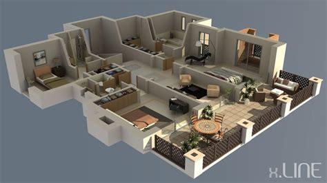 visualizing and demonstrating 3d floor plans home design renderig floor plan 02 x line 3d visualization 3d