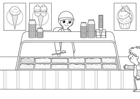 imágenes para dibujar helados helados dibujo para colorear e imprimir