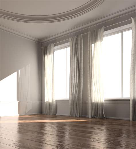 curtain scene interior daylight dim lighting problems visualization