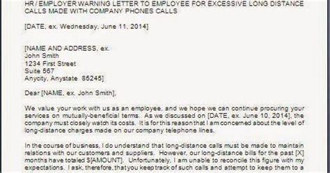 warning letter misuse company property
