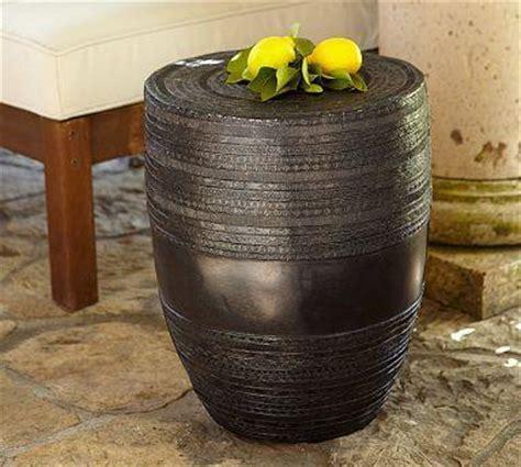 metal drum accent table metal drum accent table pottery barn