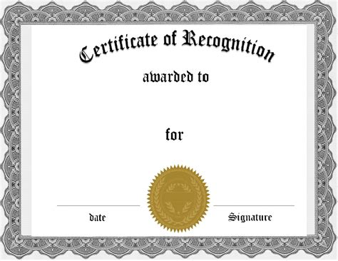 certificate word template certificates images