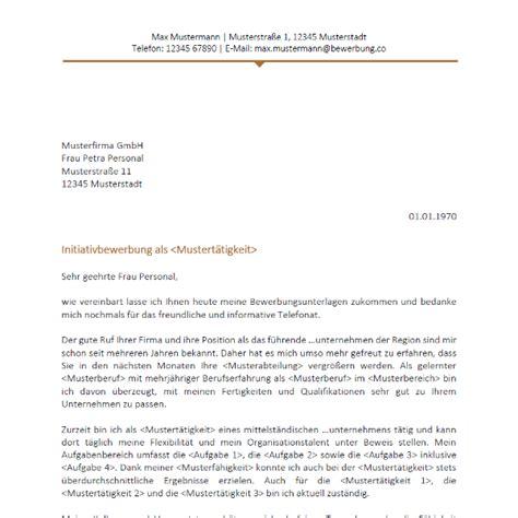 Initiativbewerbung Anschreiben Ende initiativbewerbungsvorlage 2017 bewerbung co