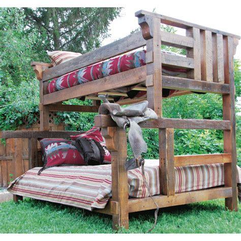 Barnwood Bunk Bed Wildwood Rustics Sawn Pine Bunk Bed