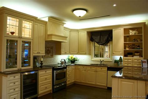 Almond Kitchen Cabinets by Pictures Of Kitchens Traditional Off White Antique