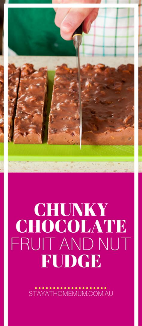 Chunky Fruit Nuts chunky chocolate fruit and nut fudge