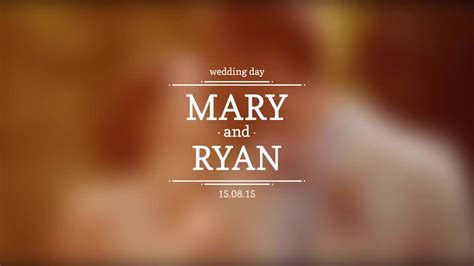 Wedding Titles After Effects Templates Motion Array Wedding Title Templates
