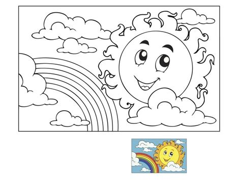 spring sun coloring page spring coloring page sun and rainbow 171 preschool and