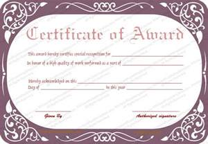 Best wife award certificate formal certificate templates