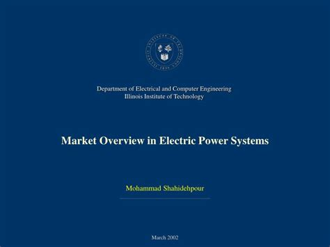 power system operations and electricity markets electric power engineering series books ppt market overview in electric power systems powerpoint