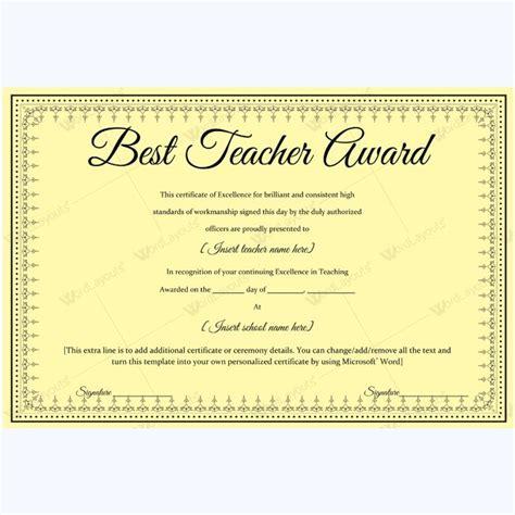 best certificate templates free best award certificate template sle award