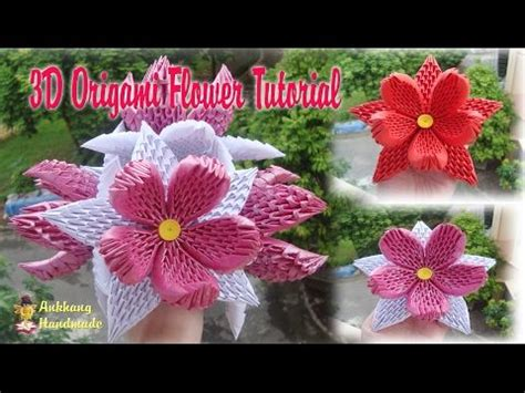 3d Origami Lotus Flower Tutorial - how to make 3d origami lotus flower and bud diy paper