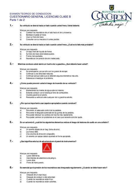 examen teorico licencia de conducir 2016 florida minimum cuestionario clase b examen te 243 rico de conducci 243 n 1 de 2