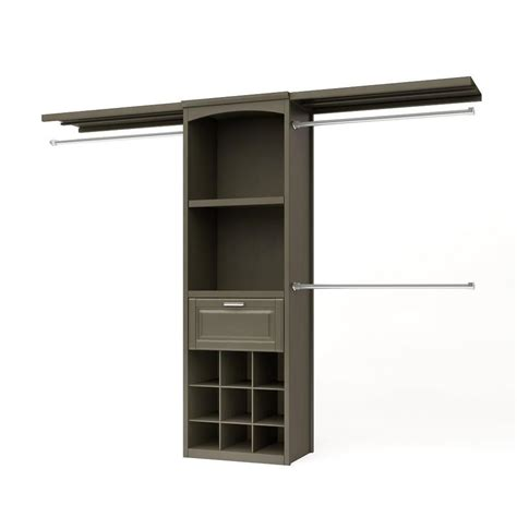 Allen Roth Closet System Shop Allen Roth 8 Ft X 6 83 Ft Rustic Gray Wood Closet Kit At Lowes