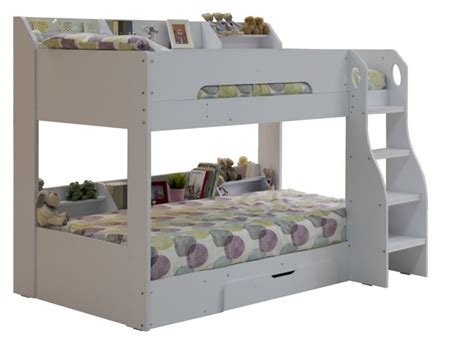 white bunk bed flair wooden bunk bed white