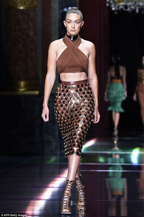 Catwalk Top 10 Vintage Part 2 by Hadid Slips Enviable Into Tight Black