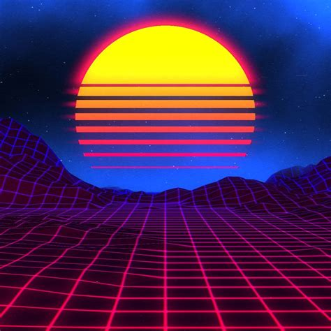 neon sunset wallpapers top  neon sunset backgrounds
