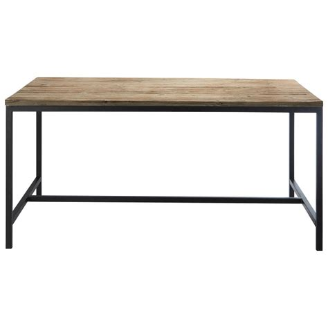 solid fir and metal industrial dining table island