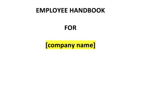 Employee Handbook Template Uk Template Agreements And Sle Contracts Colorado Employee Handbook Template