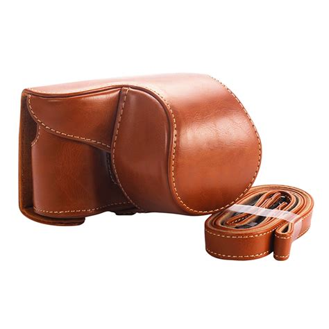 Leather A6000 leather bag for sony alpha a6000 a6300 with 16 50mm lens ebay