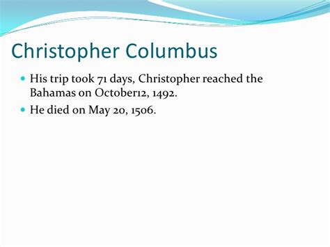 christopher columbus biography for students 2nd grade biography powerpoint project